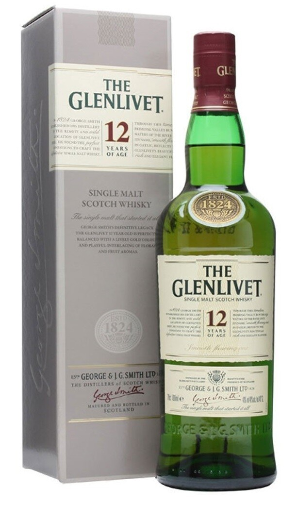 The Glenlivet '12 Years Old' Single Malt Scotch Whisky