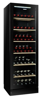 Vintec 'Noir Series' Wine Cabinet - 155 bottles - Single/Multi Temperature (V190SG2EBK)