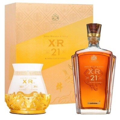 John Walker & Sons 'XR 21' Blended Scotch Whisky (Year of the Bull Limited Edition Gift Pack with Glass & Metal Holder)