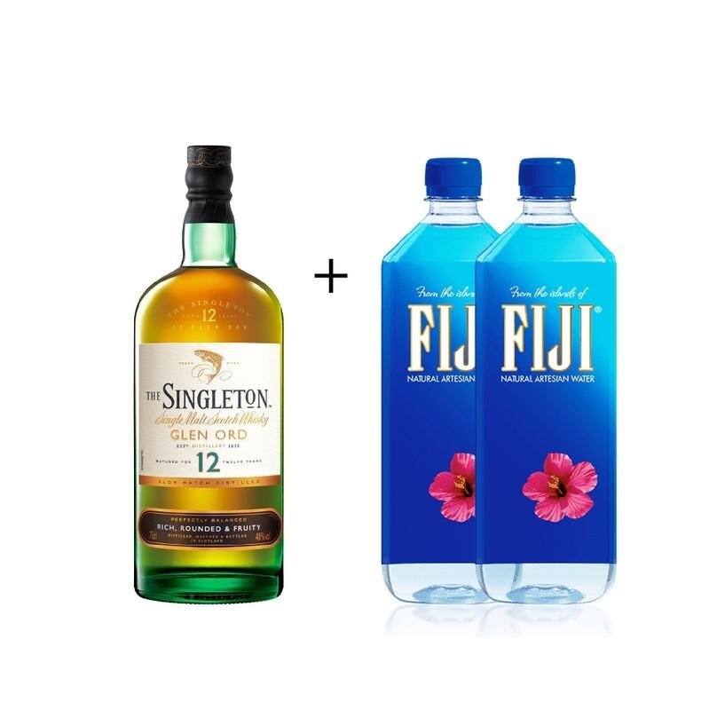 (Free 2 Fiji Water) The Singleton of Glen Ord '12 Years Old 'Single Malt Scotch Whisky