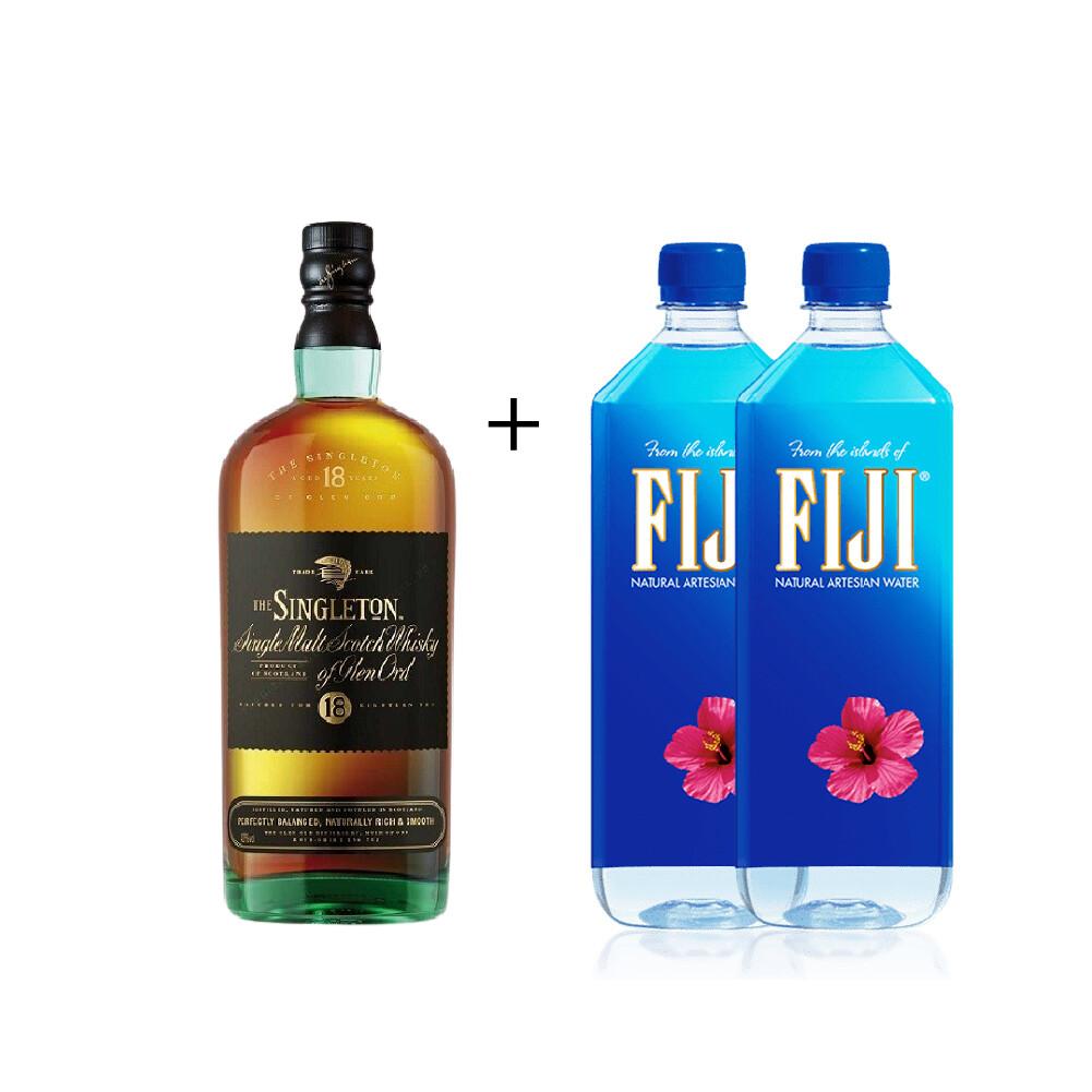(Free 2 Fiji Water) The Singleton of Glen Ord '18 Years Old 'Single Malt Scotch Whisky