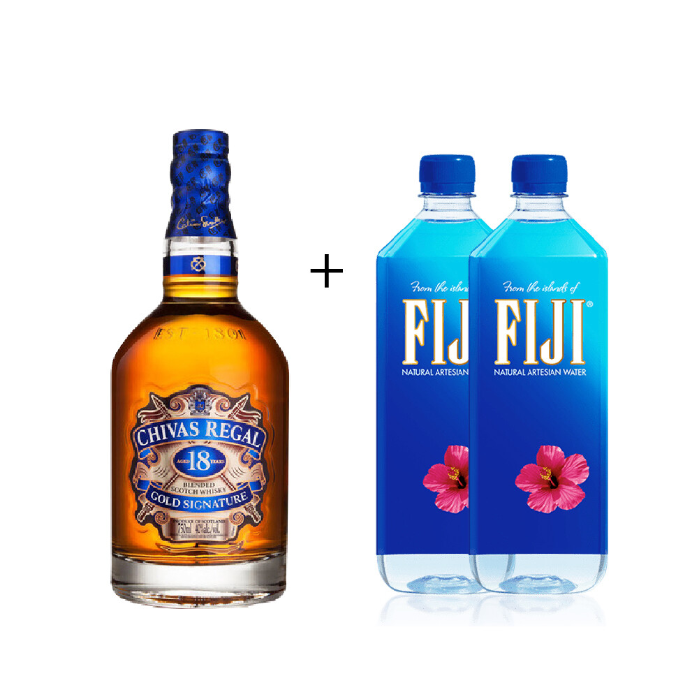(Free 2 Fiji Water) Chivas Regal '18 Years Old' Scotch Whisky