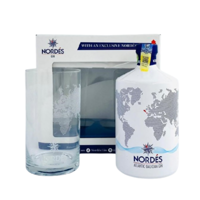 Nordes Galician Gin (Limited Edition Gift Pack with 1 Glass)