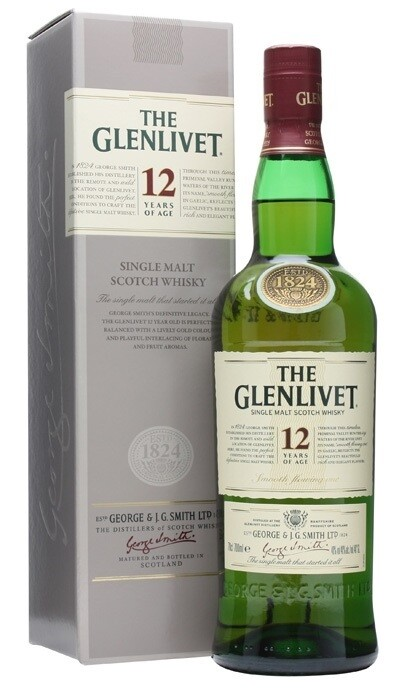 The Glenlivet '12 Years Old' Single Malt Scotch Whisky