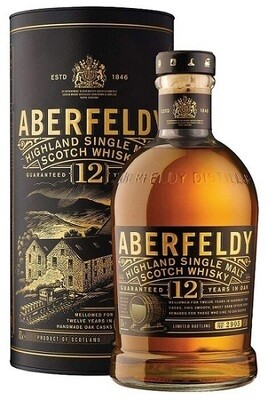 Aberfeldy '12 Years Old' Single Malt Scotch Whisky