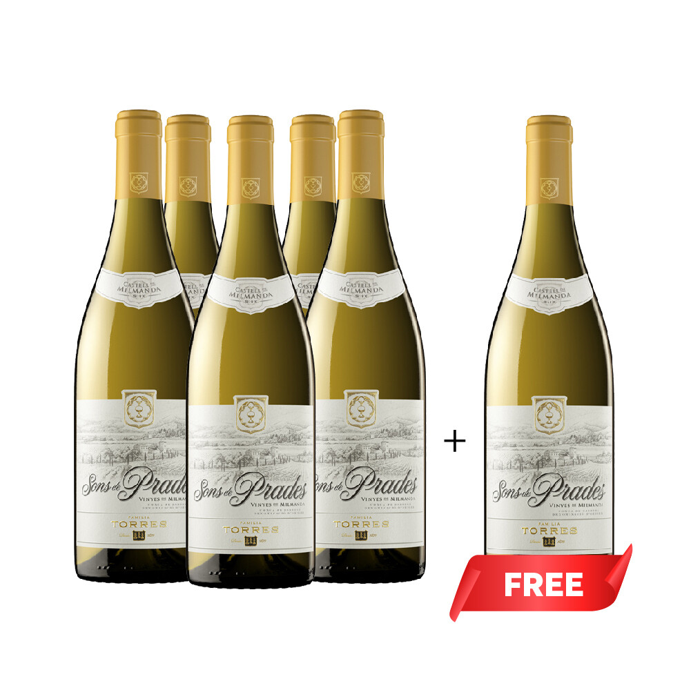 (Buy 5 Get 6th Free) Torres 'Sons de Prades' Chardonnay - Conca de Barbera