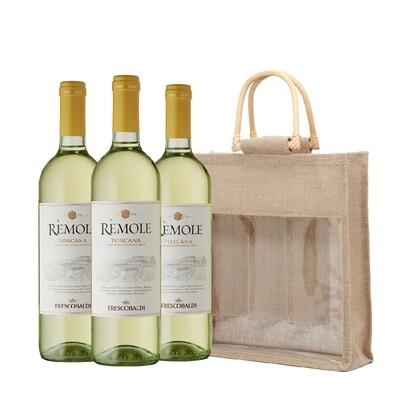 (Free Jute Wine Bag) Frescobaldi 'Remole' Bianco di Toscana Pack