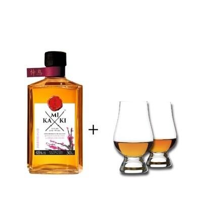 (Free Nosing Glass) Kamiki 'Sakura Wood' Blended Whisky (500ml)