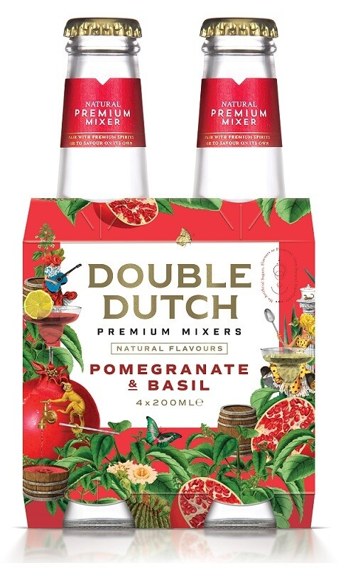 Double Dutch Pomegranate & Basil Mixer (4 x 200ml bottle)