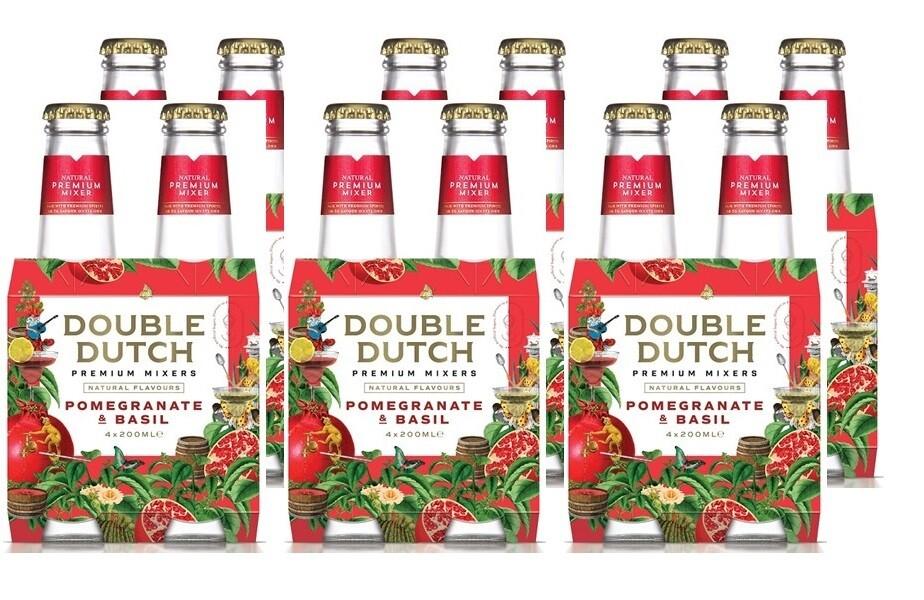 Double Dutch Pomegranate & Basil Mixer (24 x 200ml bottle)