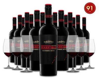 (Free Crystal Glasses) De Bortoli 'Woodfired' Heathcote Shiraz 18Bottles Pack