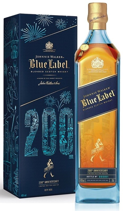 Johnnie Walker 'Blue Label' Blended Scotch Whisky (200th Anniversary Limited Edition)