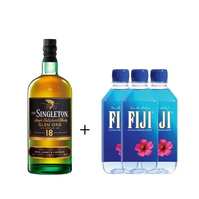 (Free 3 Fiji Water) The Singleton of Glen Ord '18 Years Old 'Single Malt Scotch Whisky