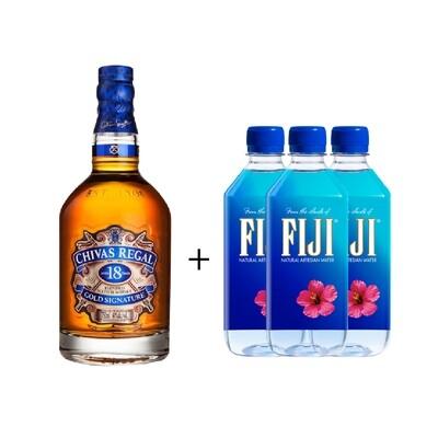 (Free 3 Fiji Water) Chivas Regal '18 Years Old' Scotch Whisky