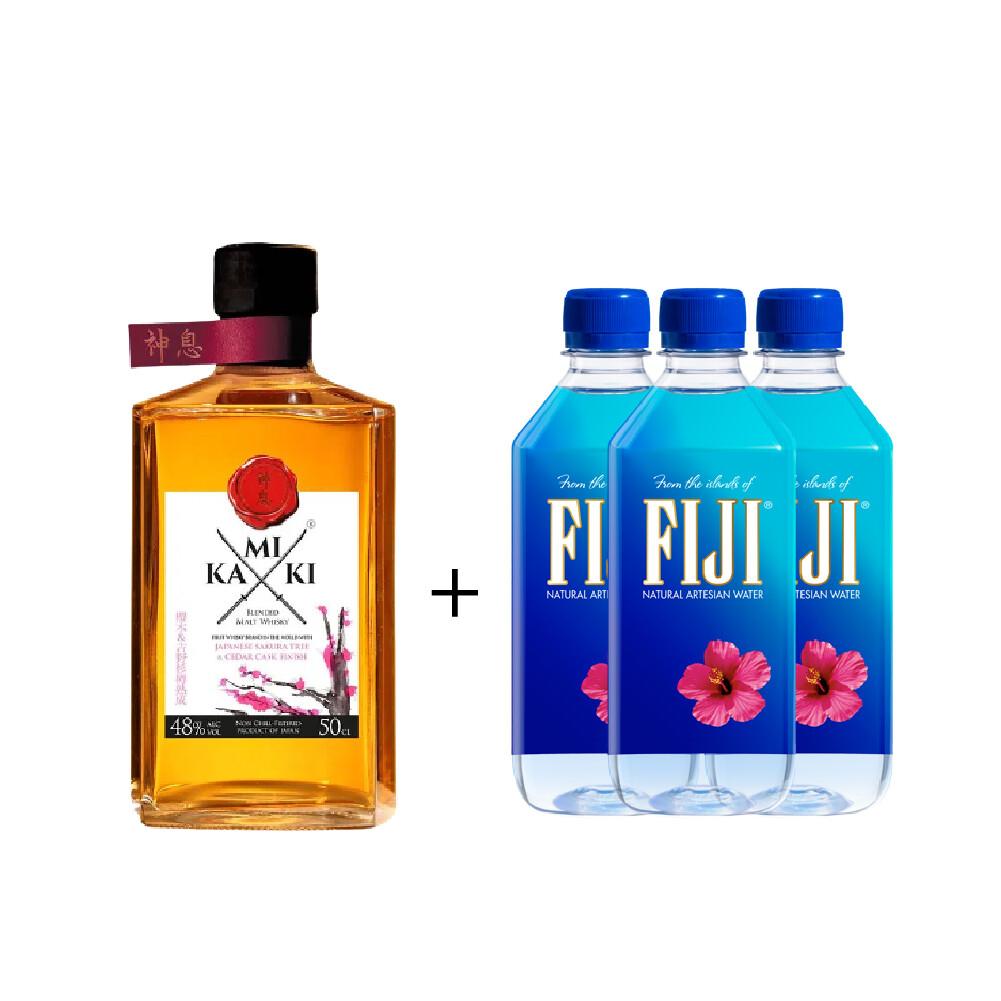 (Free 3 Fiji Water) Kamiki 'Sakura Wood' Blended Whisky (500ml)