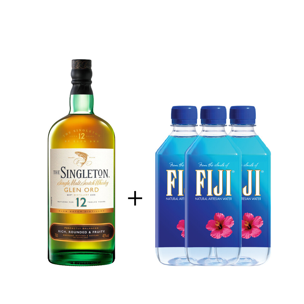 (Free 3 Fiji Water) The Singleton of Glen Ord '12 Years Old 'Single Malt Scotch Whisky