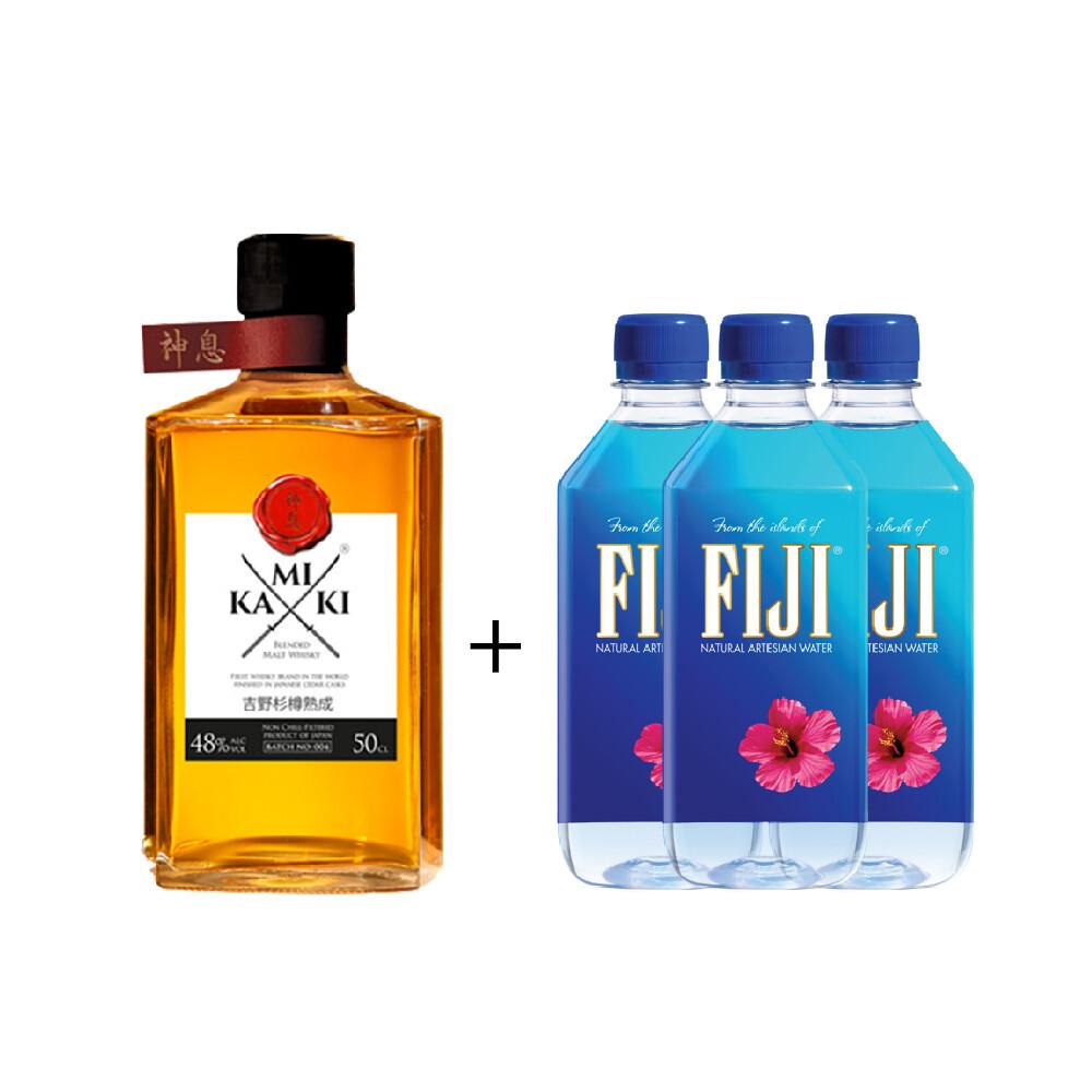 (Free 3 Fiji Water) Kamiki 'Blended Malt' Whisky (500ml)