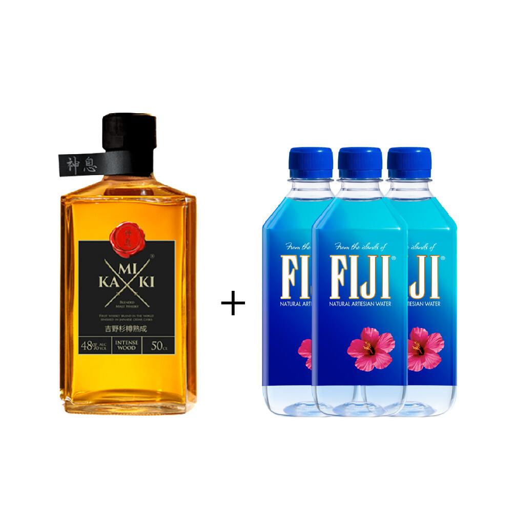 (Free 3 Fiji Water) Kamiki 'Intense Wood' Blended Whisky (500ml)