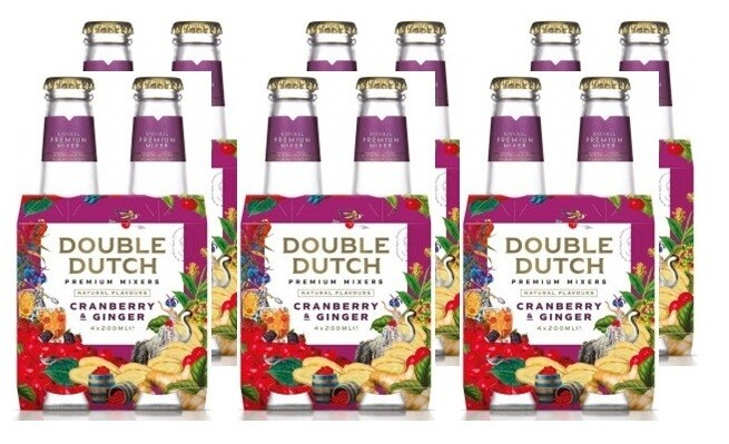 Double Dutch Cranberry & Ginger Tonic (24 x 200ml bottle)