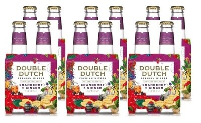 Double Dutch Cranberry & Ginger Tonic (24 x 200ml bottle)