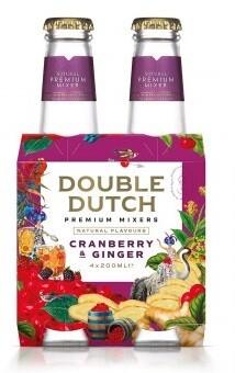 Double Dutch Cranberry & Ginger Tonic (4 x 200ml bottle)