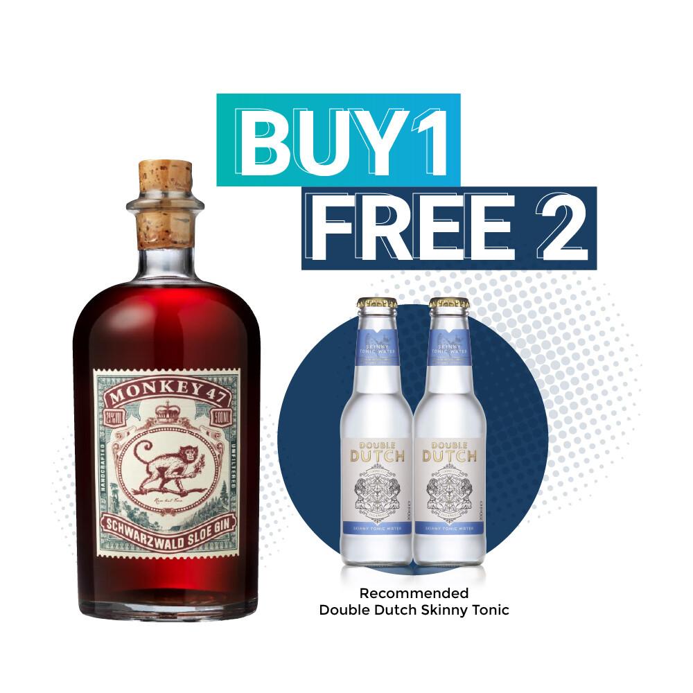 (Free Double Dutch) Monkey 47 'Schwarzwald' Sloe Gin
