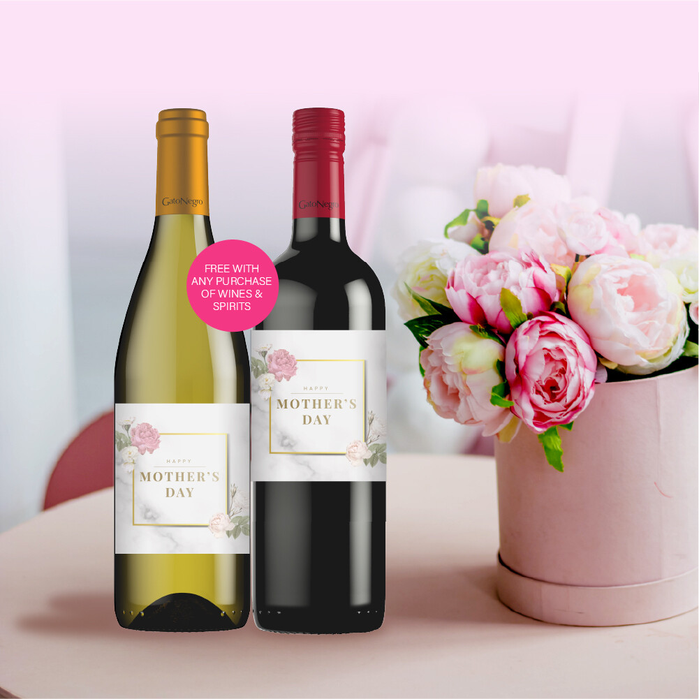 (Free with Purchase only) Mother's Day Wine Wrap
