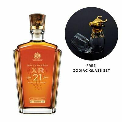(Free Zodiac Glass Set) John Walker & Sons 'XR 21' Blended Scotch Whisky