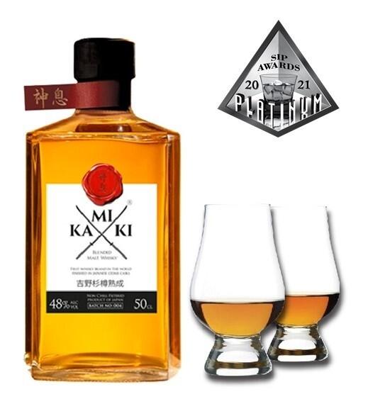(Free Nosing Glasses) Kamiki 'Blended Malt' Whisky (500ml)