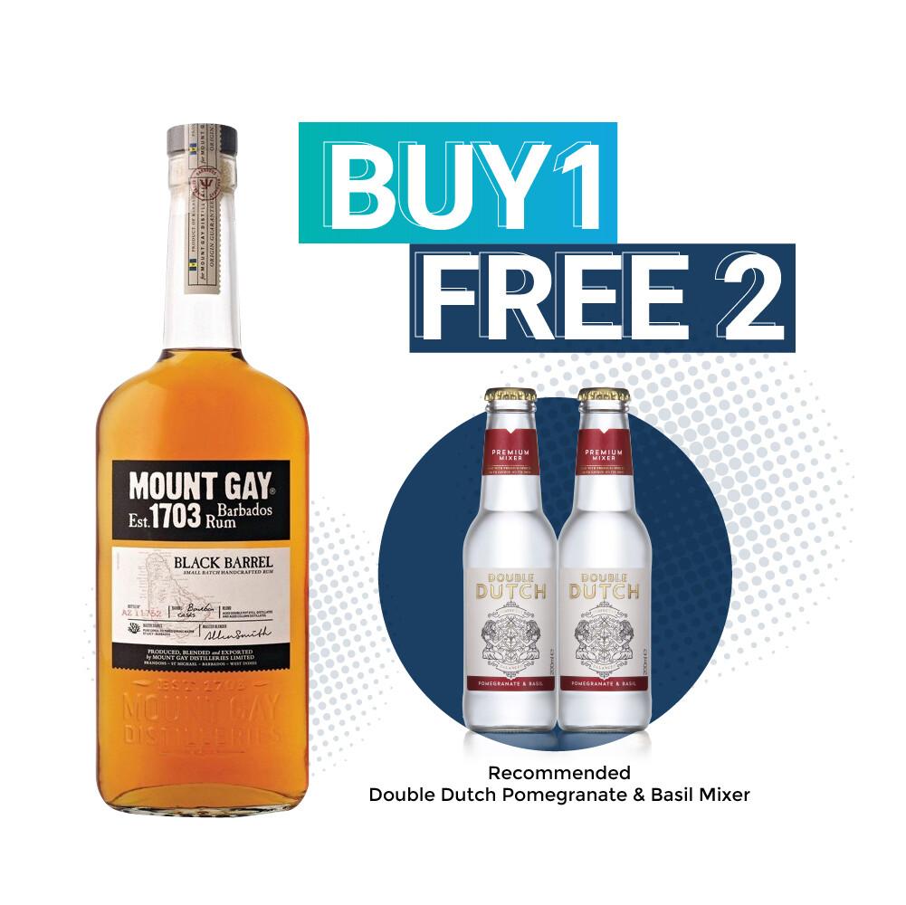 (Free Double Dutch Mixer) Mount Gay 'Black Barrels' Rum