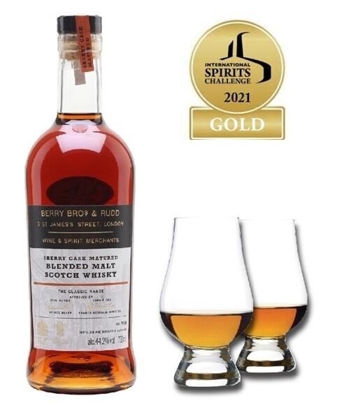 (Free Nosing Glasses) Berry Bros. & Rudd 'Classic Sherry Cask' Blended Malt Scotch Whisky