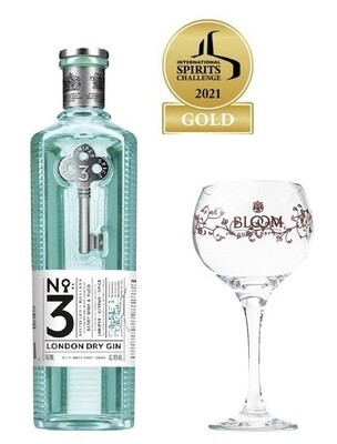 (Free Balloon Glass) No3 London Dry Gin
