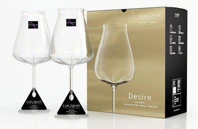 Lucaris 'Desire' Robust Red Crystal Glasses (Set of 2)