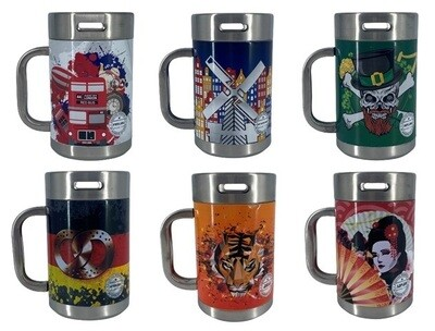 (6 Country Collection) Limited Edition Heineken Metal Mugs