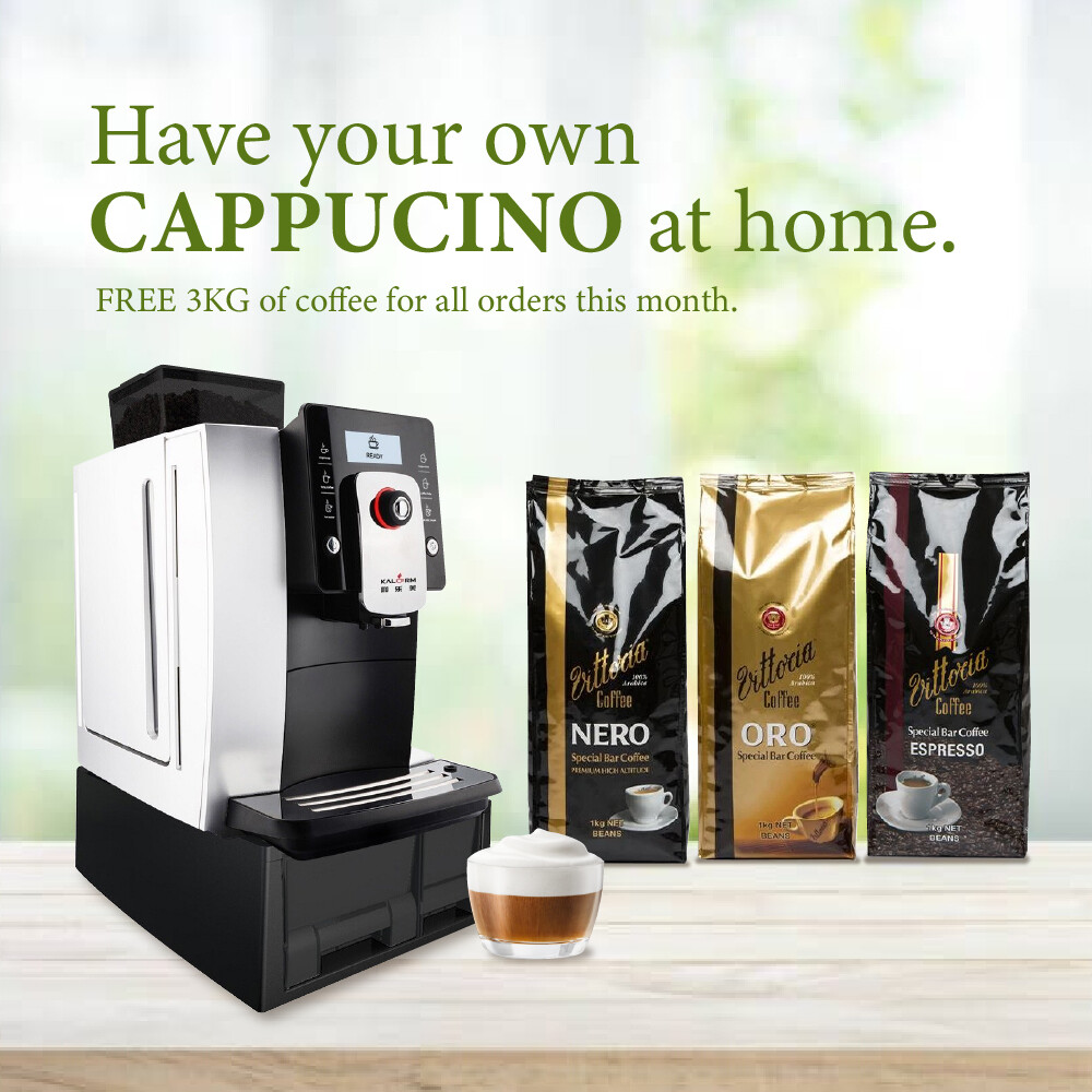 Kalerm Expresso Coffee Automaker (Free 3Kg of Coffee Beans)