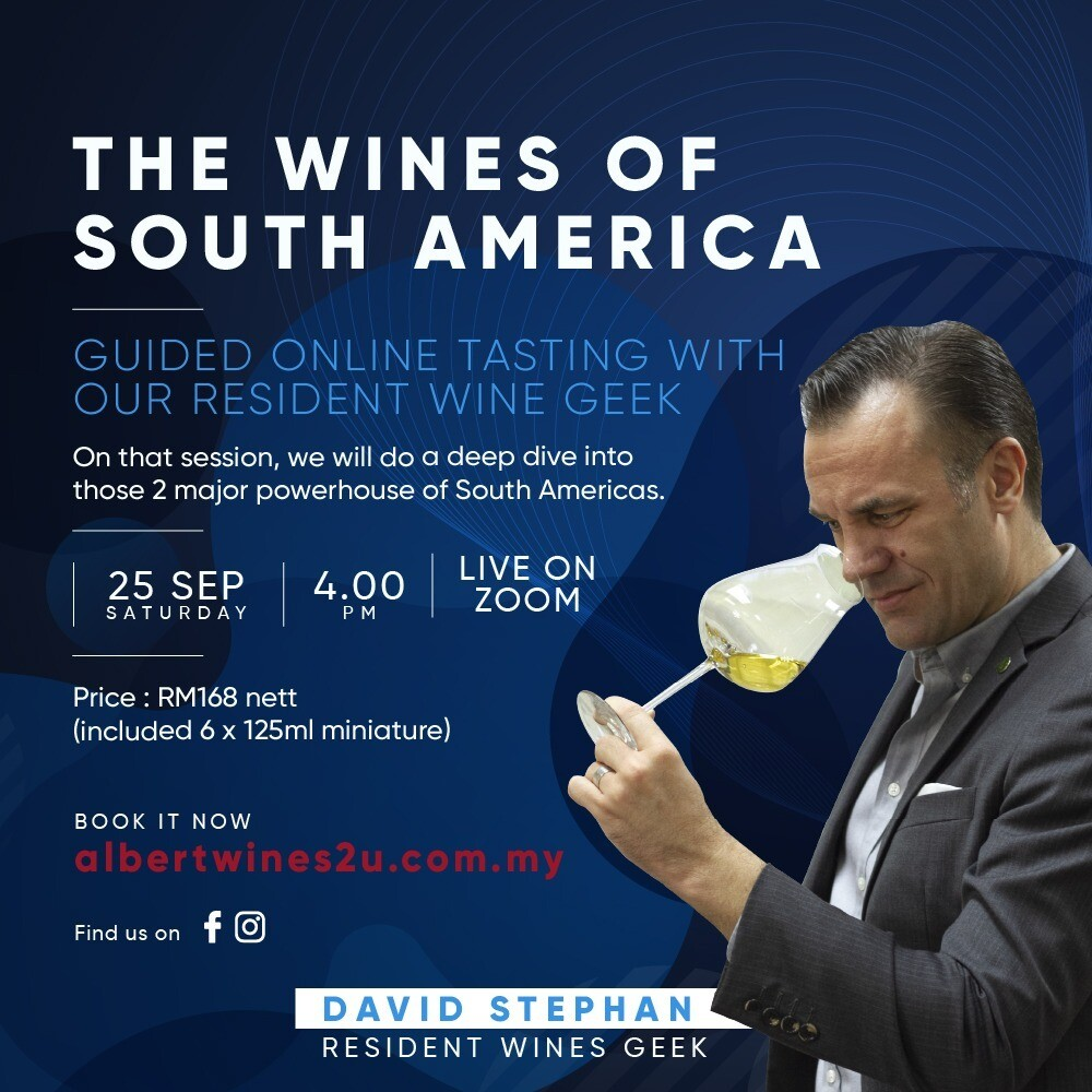 Online Wine Tasting - The Wines of South America - Sep 25th 2021