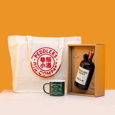 Peddlers Shanghai Craft Gin (Limited Edition Pack with Gift Box, Mug and Tot Bag)