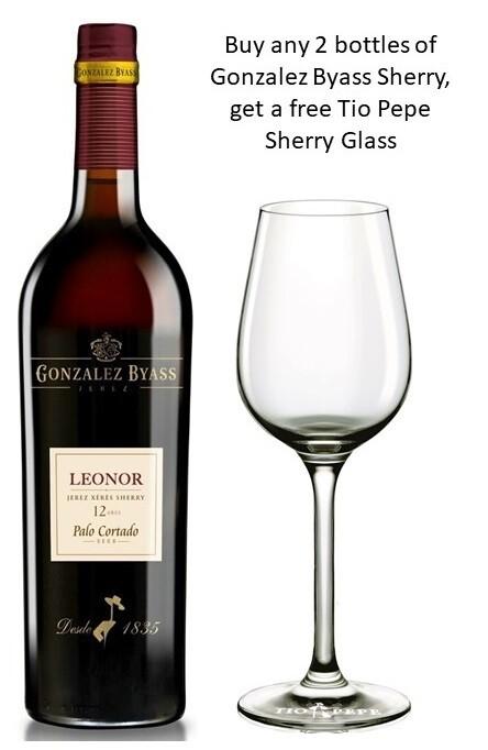 Gonzalez Byass 'Leonor' Palo Cortado Dry Sherry (375ml) - Buy 2 Mixed Sherry Bottle, get 1 free Sherry Glass