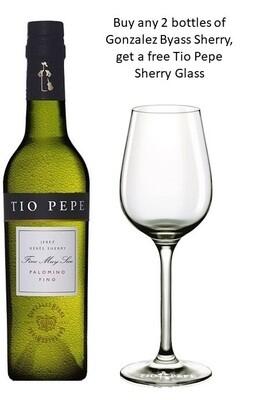 Gonzalez Byass 'Tio Pepe Fino Muy Seco' Dry Sherry (375ml) - Buy 2 Mixed Sherry Bottle, get 1 free Sherry Glass