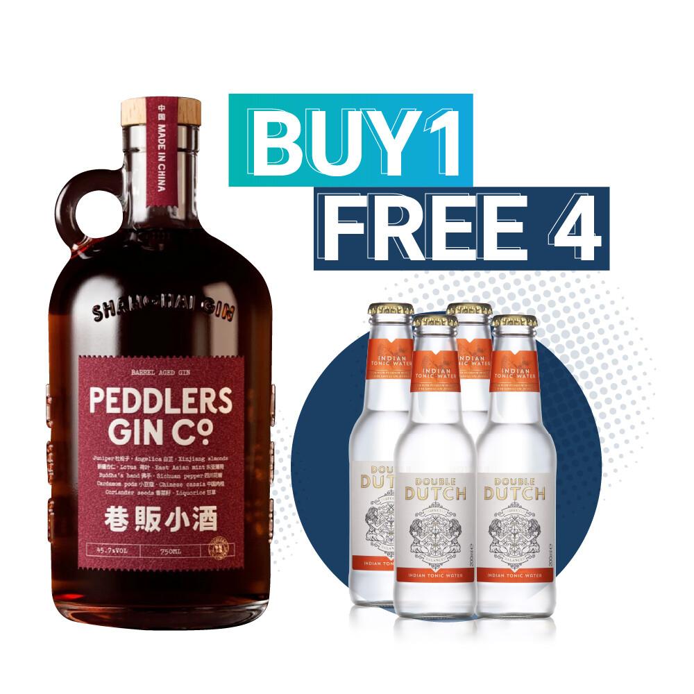 (Free Double Dutch Indian Tonic) Peddlers Shanghai Barrel Aged Gin