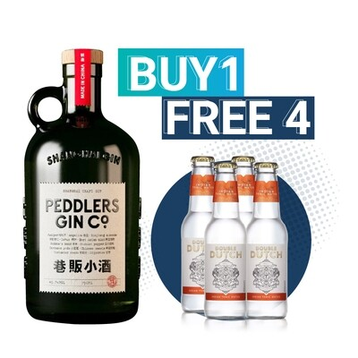 (Free Double Dutch Indian Tonic) Peddlers Shanghai Craft Gin