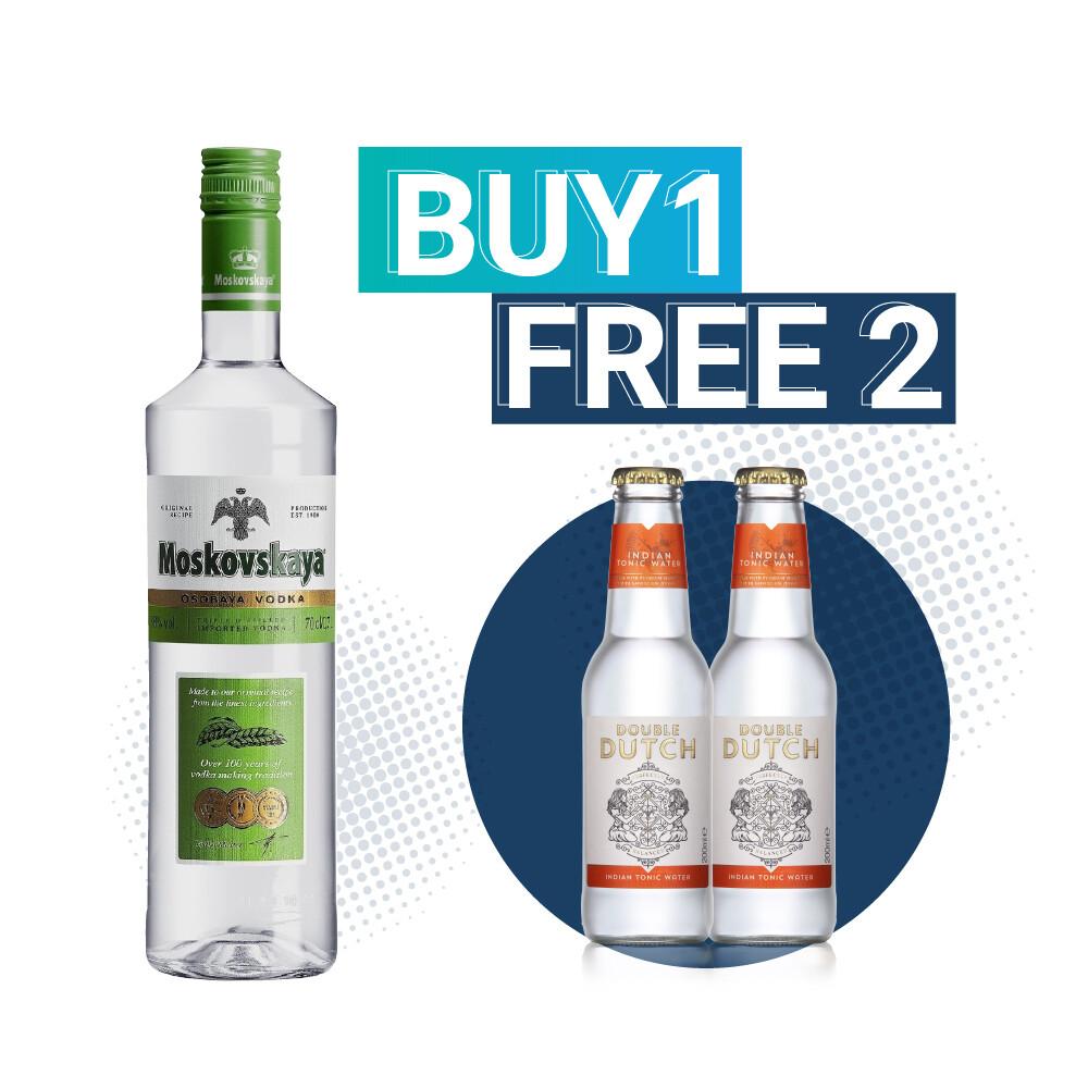 (Free Double Dutch Indian Tonic) Moskovskaya Vodka