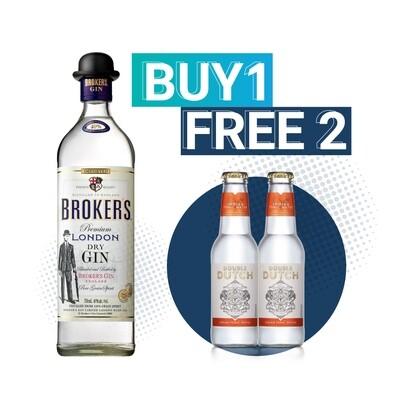 (Free Double Dutch Indian Tonic) Broker's London Dry Gin & Tonic