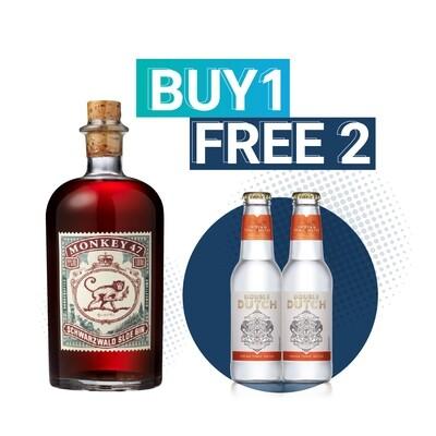 (Free Double Dutch Indian Tonic) Monkey 47 'Schwarzwald' Sloe Gin