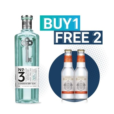 (Free Double Dutch Indian Tonic) No3 London Dry Gin