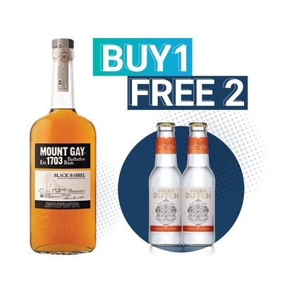 (Free Double Dutch Indian Tonic) Mount Gay 'Black Barrels' Rum