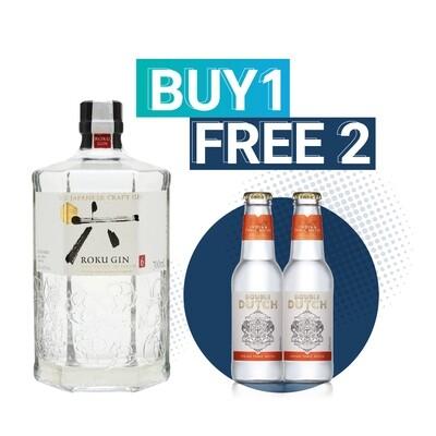 (Free Double Dutch Indian Tonic) Roku Japanese Gin