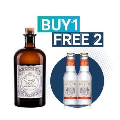 (Free Double Dutch Indian Tonic) Monkey 47 'Schwarzwald' Dry Gin