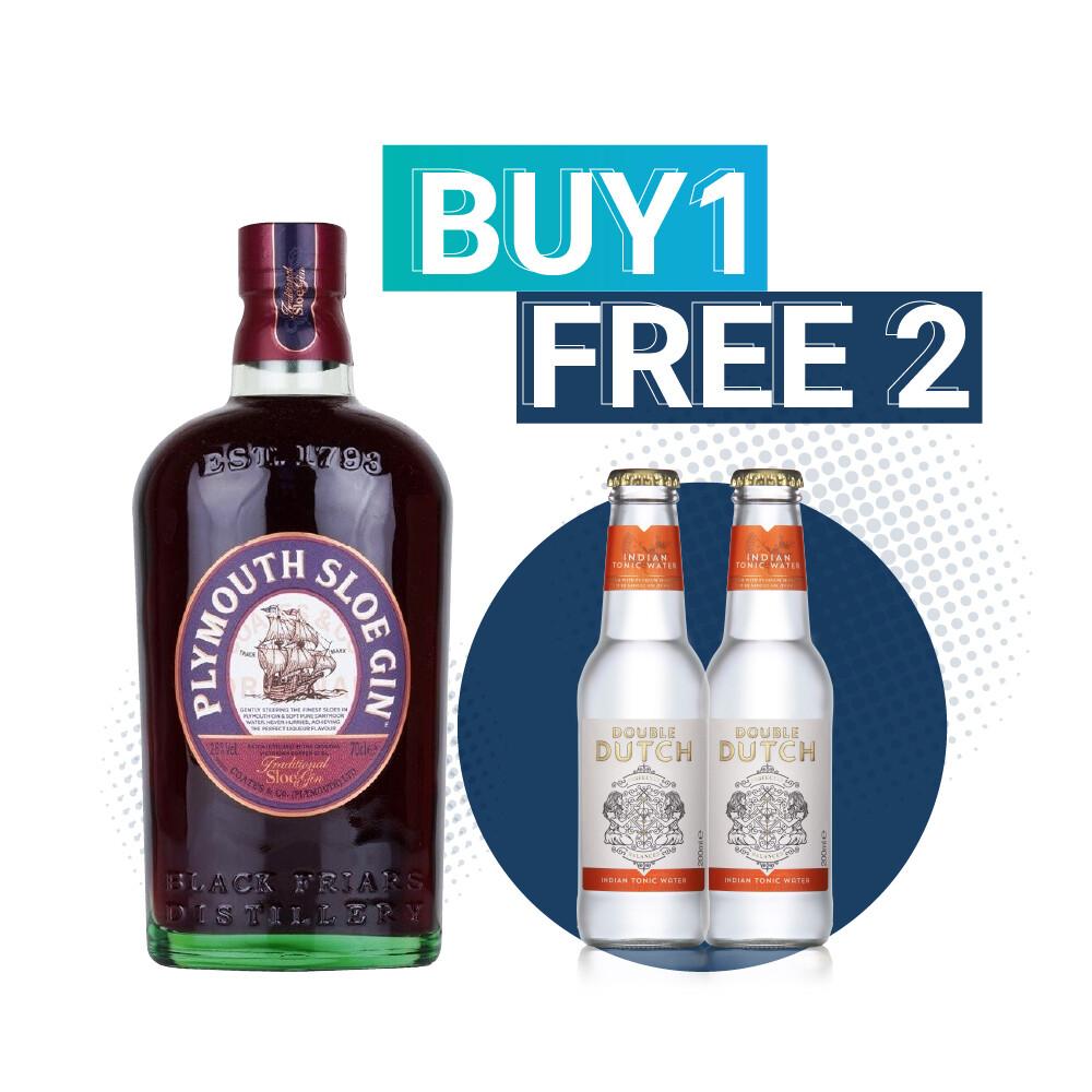 (Free Double Dutch Indian Tonic) Plymouth Sloe Gin