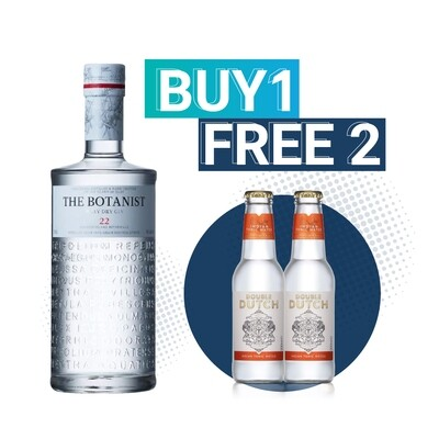 (Free Double Dutch Indian Tonic) The Botanist Islay Dry Gin
